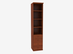 The bookcase is narrow with open shelves (4821-24)