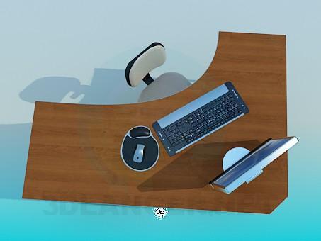modelo 3D Escritorio esquina - escuchar
