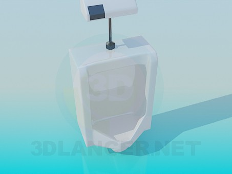 3d modeling Automatic wall urinal model free download