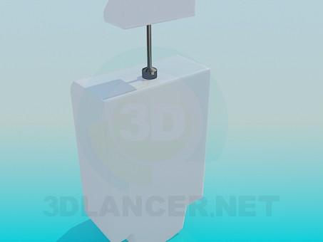 3d модель Автоматический настенный писсуар – превью
