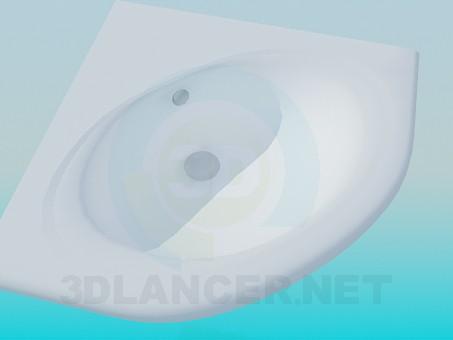 3d model Washbasin in the corner - preview