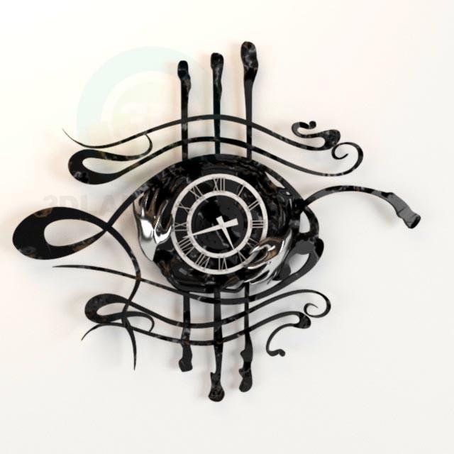 modelo 3D Relojes en la pared - escuchar