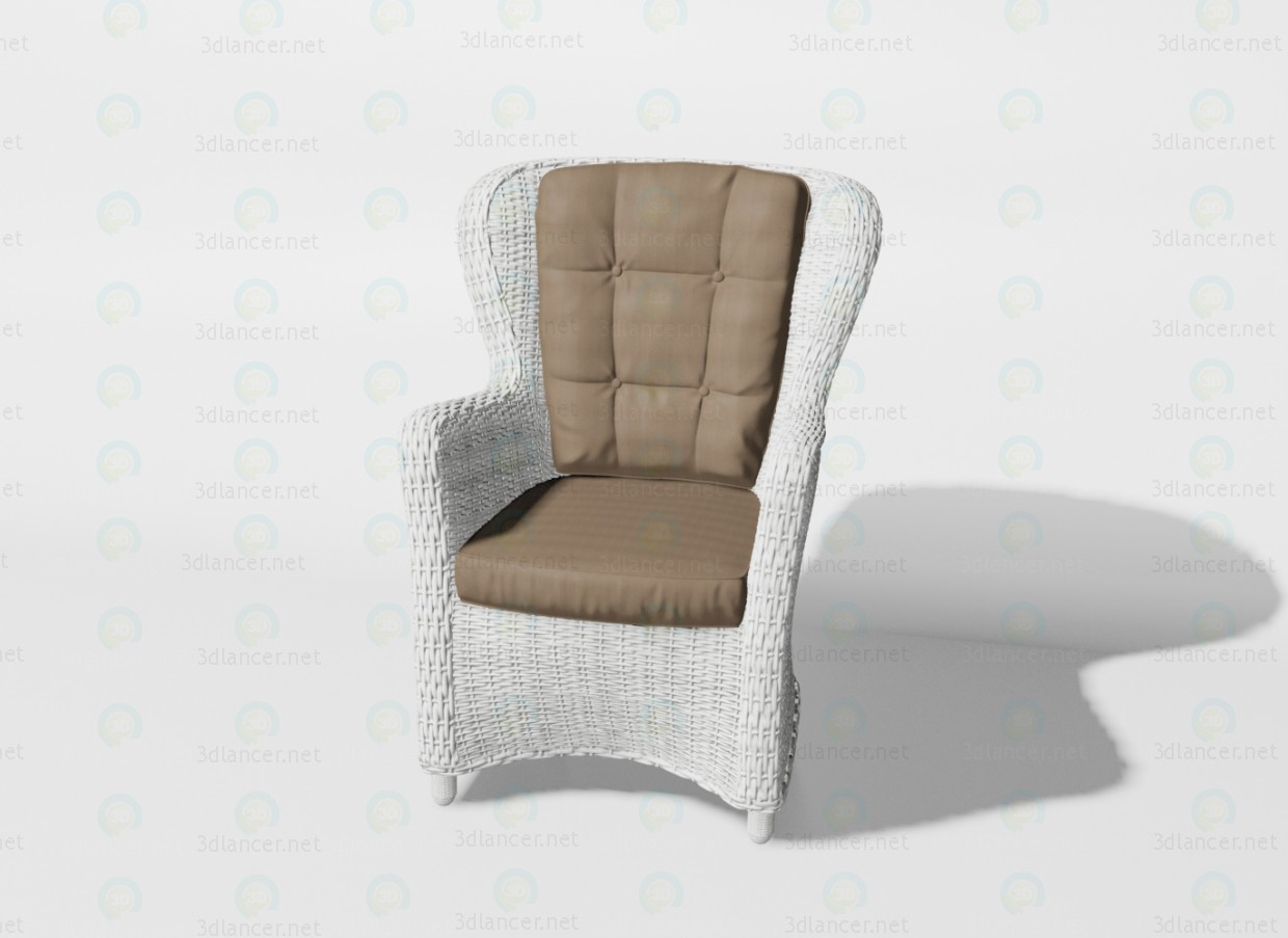 3d model Armchair Siena - preview