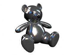 Giocattolo orsacchiotto argento