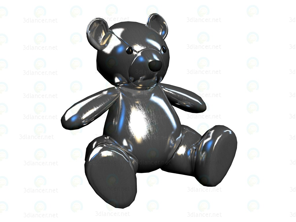3d model Toy Teddy Silver - preview