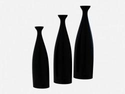 Ceramic black vase Vase A (3-х)