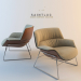 3d model armchair of Saint Luc Couch - preview