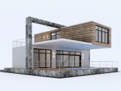 Residential house from containers