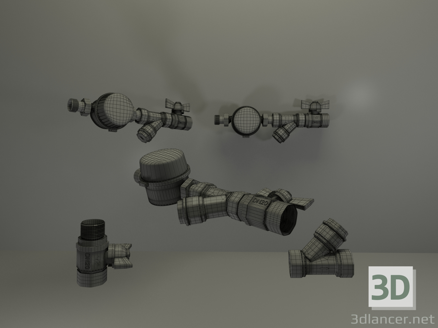 3d water control unit model buy - render