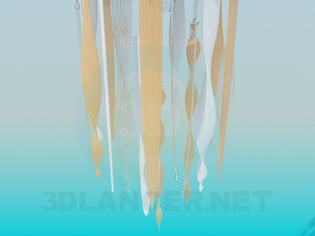 3d model Lamp with glass icicles - preview
