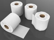 Rollo de papel de seda 3D