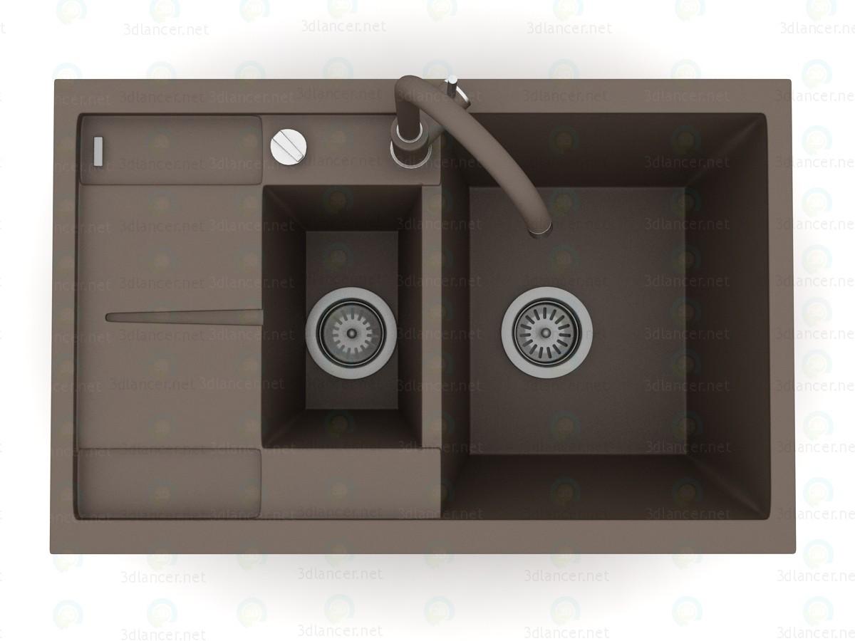 3d Кухонная мойка Blanco Metra 6S Compact модель купить - ракурс