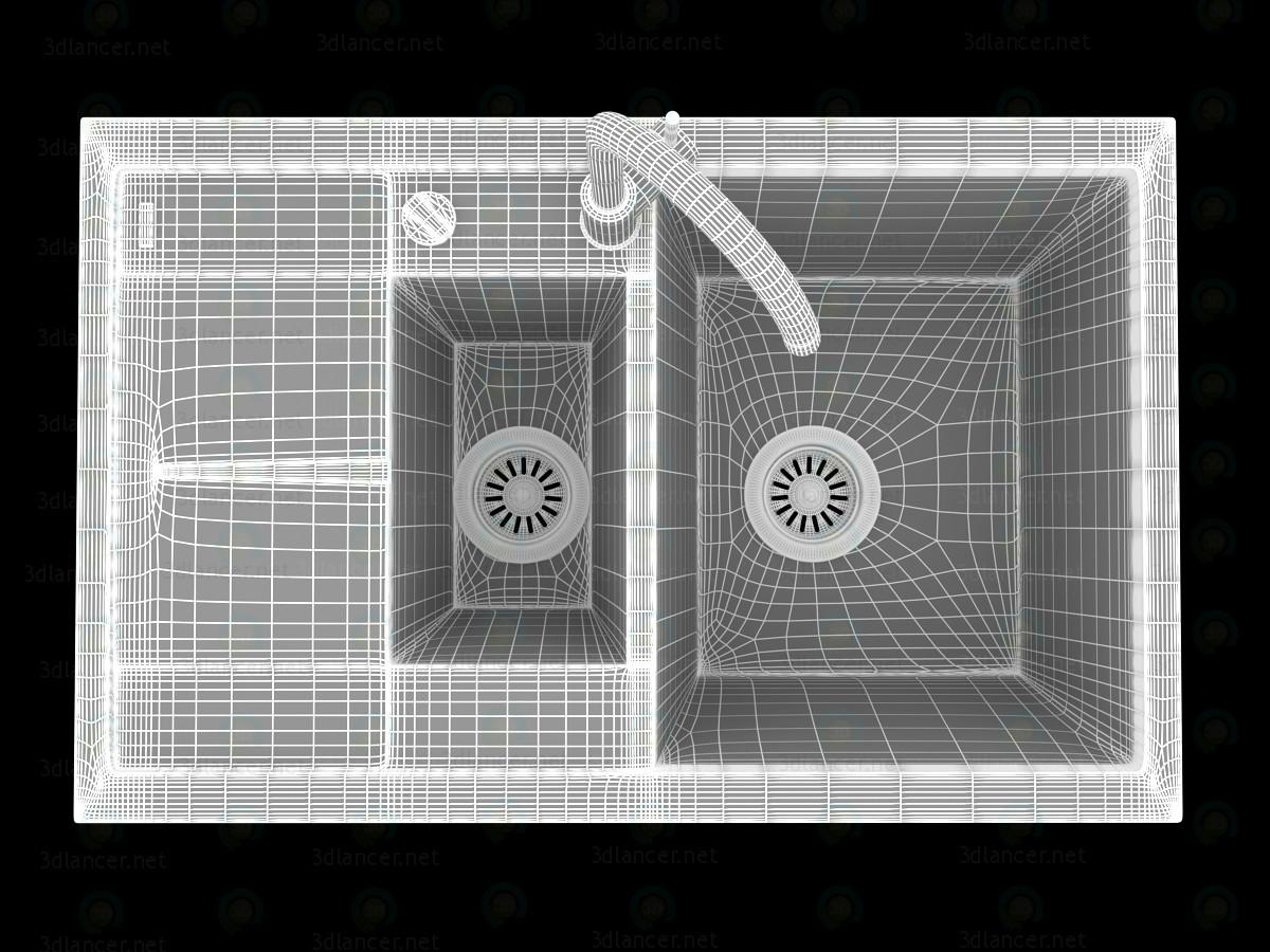 3d Кухонна мийка Blanco Metra 6S Compact модель купити - зображення