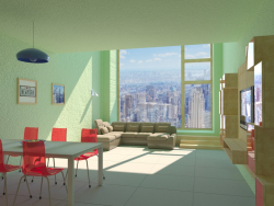 Interno di un appartamento a New York