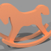 3d Figurine Horse model buy - render