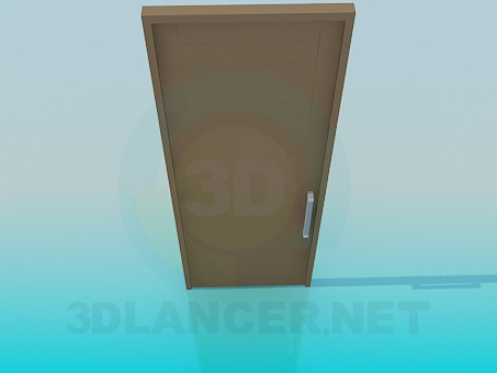 3d model Door with horizontal bars - preview