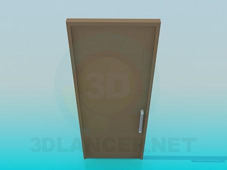 modelo 3D Puerta con barras horizontales - escuchar