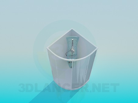 3d model Angular shower cubicle - preview