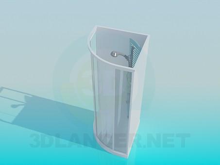 modelo 3D Cabina de ducha angular - escuchar