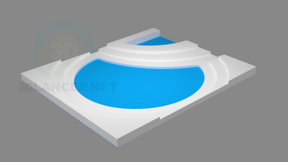 3d модель Фигурный потолок – превью