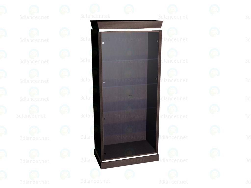 3d model Escaparate con puertas y estantes de vidrio - vista previa
