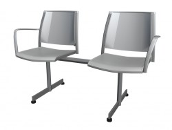 2-person bench polipro without armrest for the middle for the conference