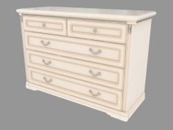 Chest of drawers with five (1276x870x495)