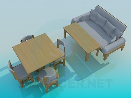 3d модель Набір меблів для кухні – превью