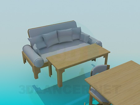 3d model Kitchen furniture set - preview