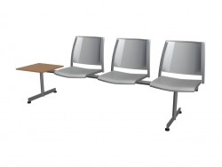 3-person bench without armrests polipro with table
