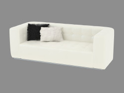 Sofa Poker in pelle (207x92x70)