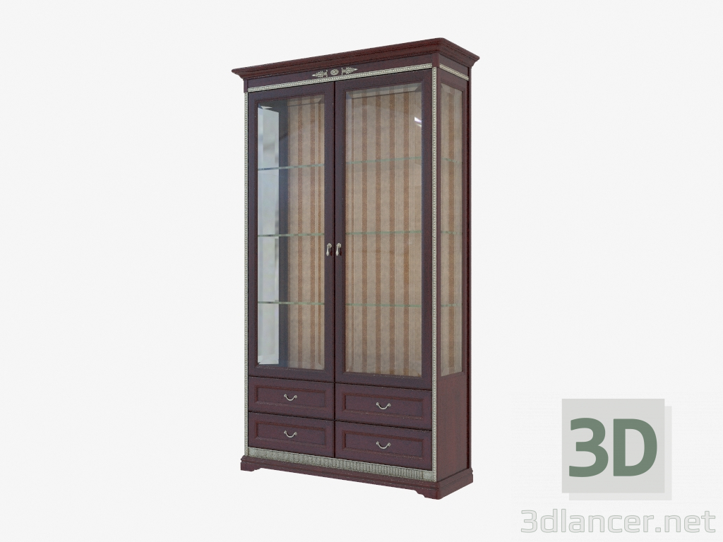 3d modell zweit riger schrank f r geschirr 1259x2149x432 vom hersteller miassmobili joconda. Black Bedroom Furniture Sets. Home Design Ideas