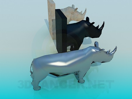 3d model A stuffed rhinoceros - preview