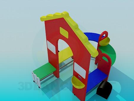 modelo 3D Casa infantil para juegos - escuchar