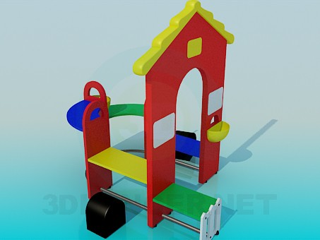 3d model Children's House for games - preview