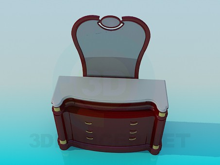 3d model Vanity with Golden accents - preview