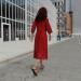 3d Woman in red dress model buy - render