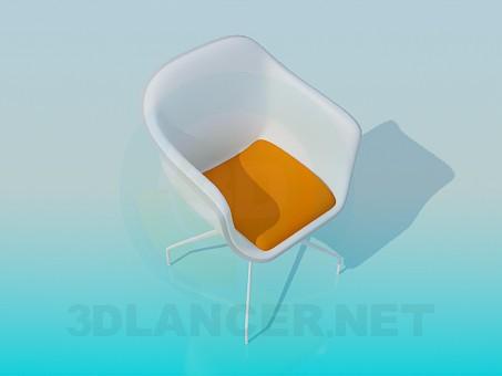 3d моделирование Стул-кресло на тонких ножках модель скачать бесплатно