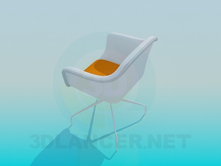 3d model Chair on thin legs - preview