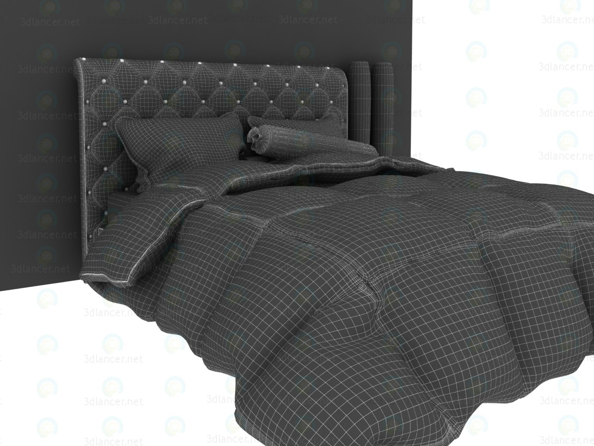 3d Ліжко в стилі нео-барокко модель купити - зображення