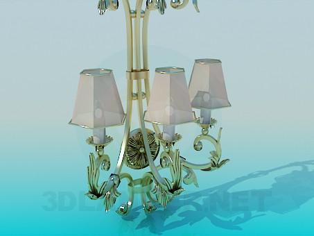 3d modeling Bra with Golden petals model free download