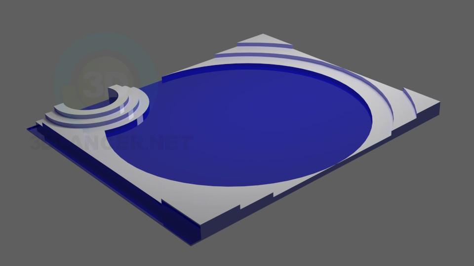 3d модель Фигурный потолок2 – превью