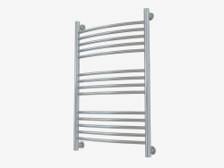 Heated towel rail Bohemia + curved (800x500)