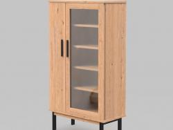 Asymmetric cabinet