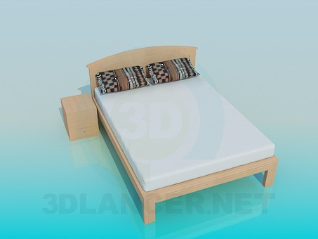 3d modeling Bed pedestal model free download