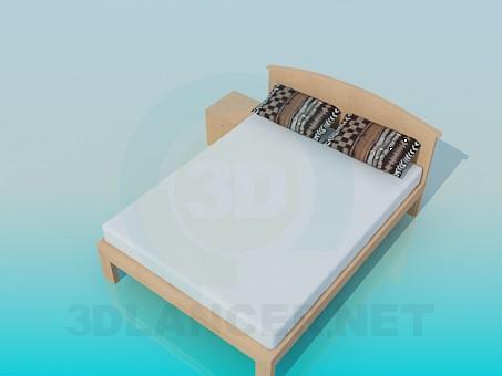 modelo 3D Pedestal de cama - escuchar