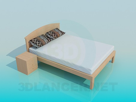 3d model Bed pedestal - preview