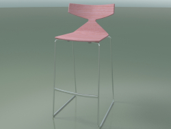Tabouret de bar empilable 3704 (Rose, CRO)