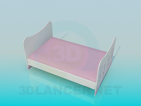 3d modeling Cot for baby girls model free download