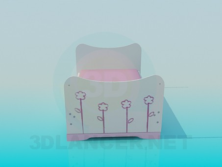 modelo 3D Cuna para bebés - escuchar